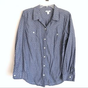 Old Navy Polka Dot Button Down Top